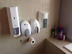 Toilet wall containers