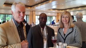 LSA14 Norman Faull, Charles Mooke, Denise Bennett lunch 140917