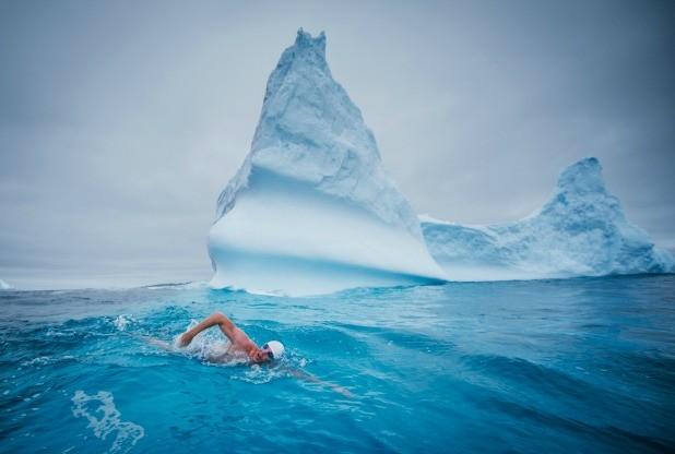 Lewis Pugh Antarctic swim